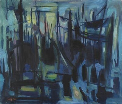 Velieri nel porto, 1955 - Antonio Corpora