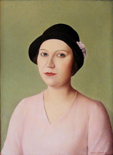 Portrait of a Woman in Hat, 1931 - Antonio Donghi