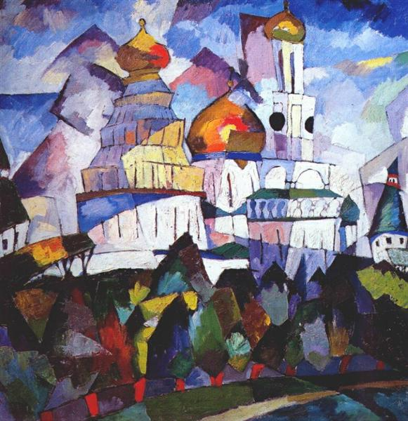 Churches, New Jerusalem, 1917 - Aristarkh Lentulov