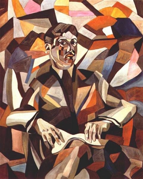 Self-portrait, 1912 - Aristarch Wassiljewitsch Lentulow