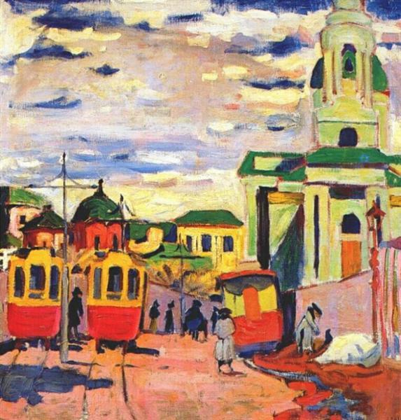 Street, Moscow, 1910 - Aristarkh Lentulov