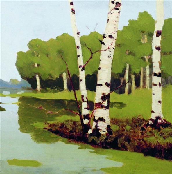 Birches, 1879 - Archip Iwanowitsch Kuindschi