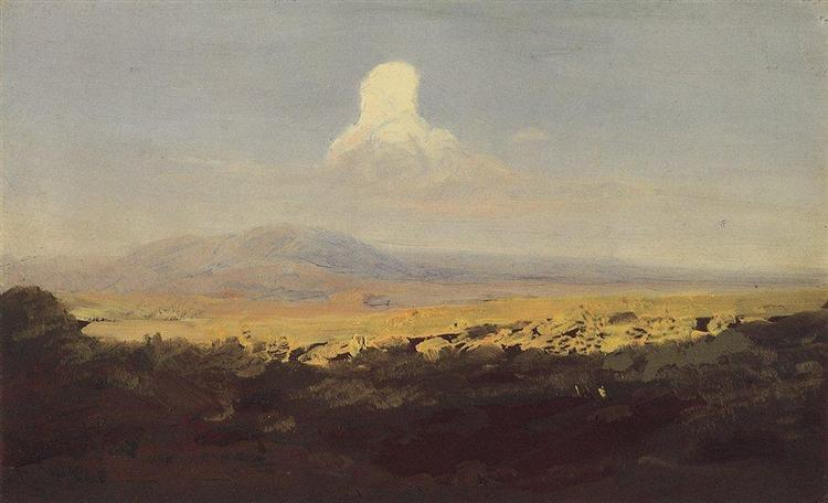 Cloud over the mountain valley, c.1908 - Arkhip Kuindzhi