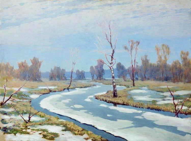 Early spring, c.1895 - Arkhip Kuindzhi