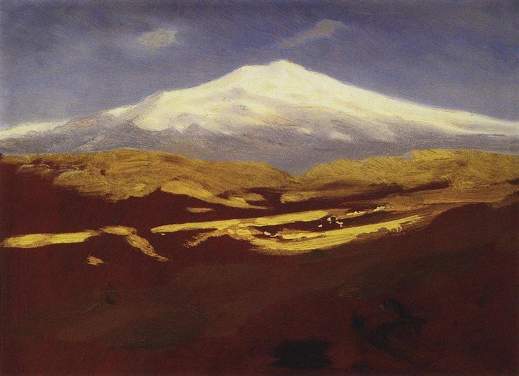 Elbrus in the daytime, c.1900 - Arkhip Kuindzhi