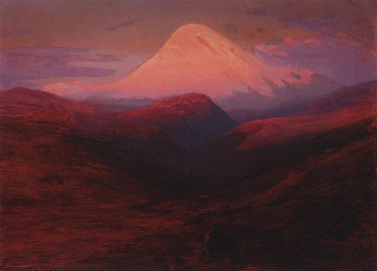 Elbrus in the Evening, c.1908 - Arkhip Kuindzhi