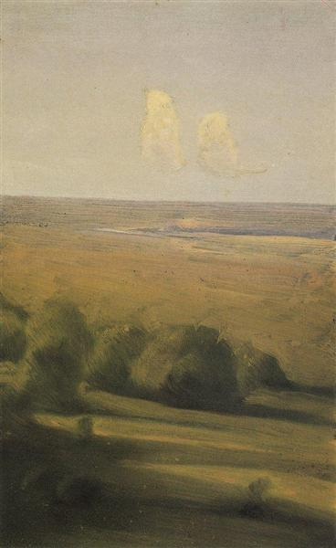 Evening in the steppe - Archip Iwanowitsch Kuindschi