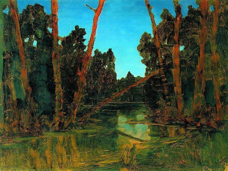 Forest swamp, c.1908 - Arkhip Kuindzhi