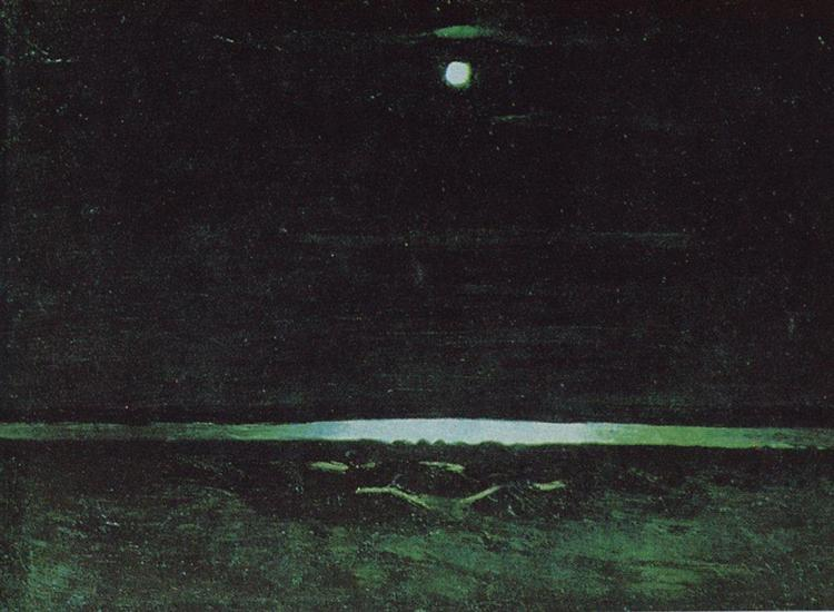 Moonlight Night on the Dnieper, c.1908 - Arkhip Kuindzhi
