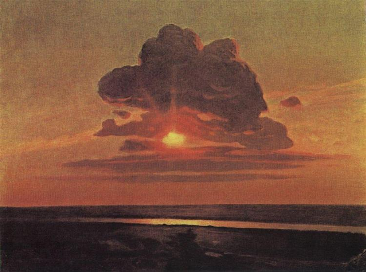 Red sunset, c.1908 - Arkhip Kuindzhi