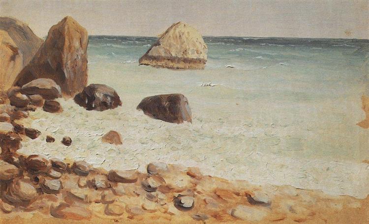 Rocky seashore. Crimea - Arkhip Kuindzhi