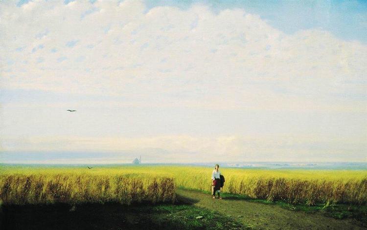 Steppe. Cornfield, 1875 - Arkhip Kuindzhi
