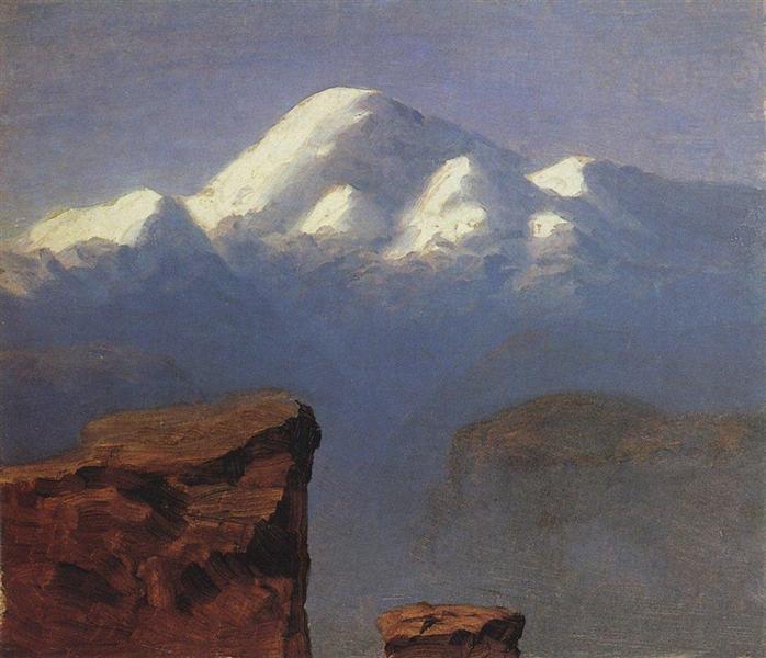 The top of Mount Elbrus in the Sunlight, c.1908 - Arkhip Kuindzhi