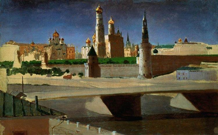 View of the Kremlin from the Zamoskvorechye District, 1882 - Arkhip Kuindzhi