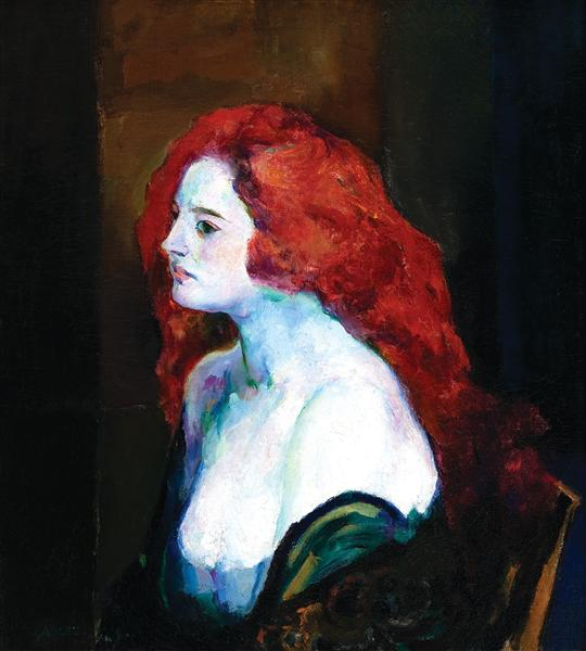 Woman with Red Hair, 1922 - Артур Бичем Карлес
