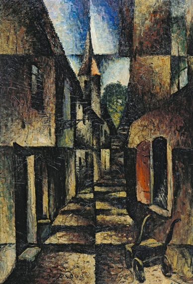 Street with church, 1924 - Arthur Segal