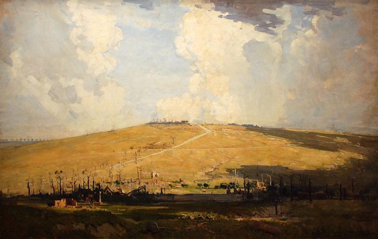 Mount St Quentin, 1918 - Arthur Streeton