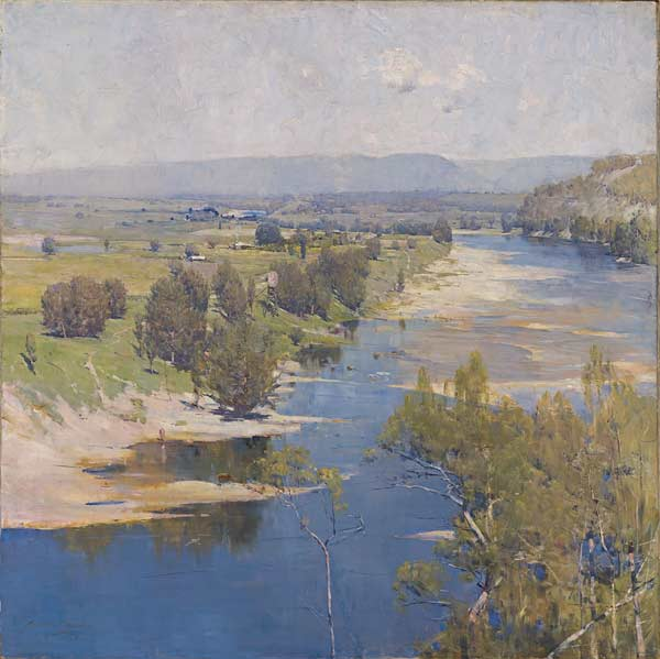 The purple noon's transparent might - Arthur Streeton