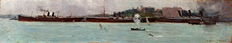 The three liners - Arthur Streeton
