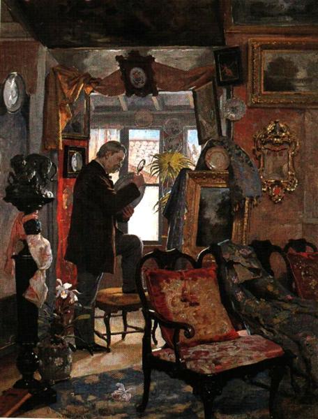 El desvan del anticuario, 1893 - Arturo Michelena