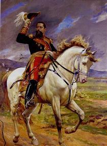 Retrato ecuestre del General Joaquín Crespo - Arturo Michelena