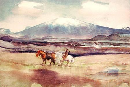 Mt. Skjaldbreiður, 1922 - Asgrimur Jonsson