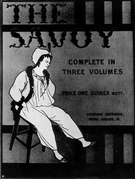Design for the front cover of 'The Savoy: Complete in Three Volumes', 1896 - Aubrey Beardsley