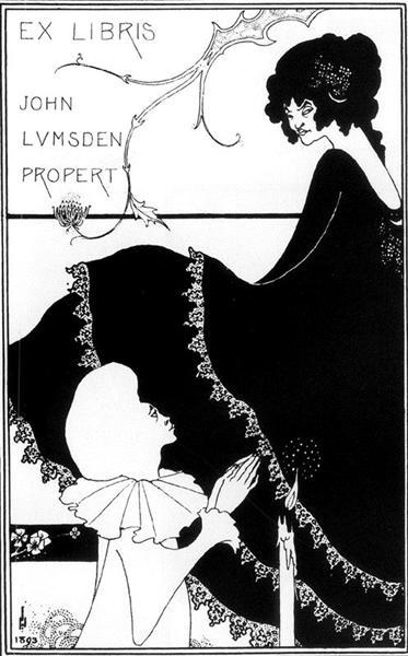 Ex-Libris by John Lumsden Propert, 1894 - Aubrey Beardsley