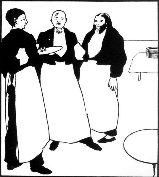 Garcons de Cafe, 1894 - Aubrey Beardsley