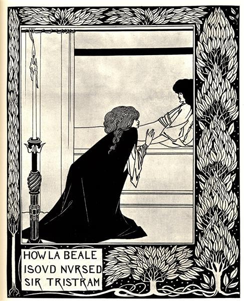 How La Beale Isoud Nursed Sir Tristram - Aubrey Beardsley