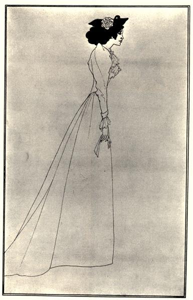 Mrs Patrick Campbell, 1894 - Aubrey Beardsley