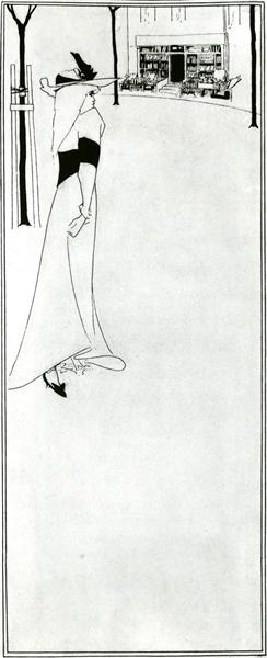 Poster of  Girl and a Bookshop - Aubrey Beardsley