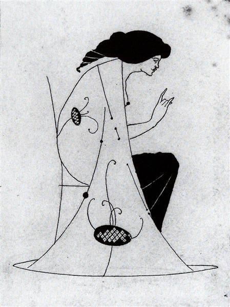 Seated Lady - Aubrey Beardsley