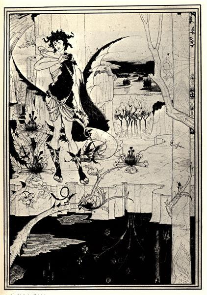 Siegfried illustration, act II, c.1892 - c.1893 - Aubrey Beardsley