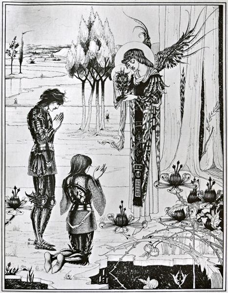 The achieving of the Sangreal - Aubrey Beardsley