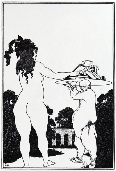 The Artist' Bookplate - Aubrey Beardsley