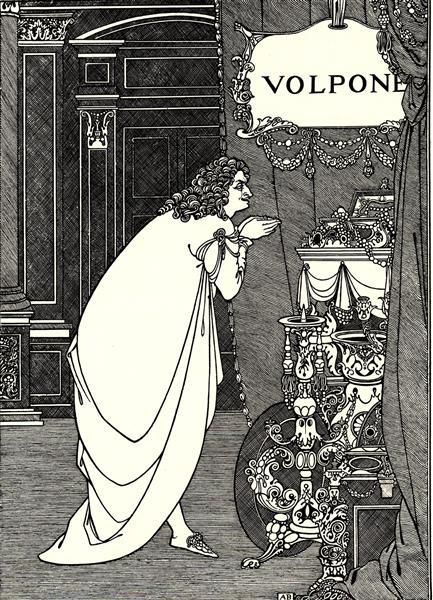 Volpone Adoring his Treasures, 1898 - Обрі Бердслі