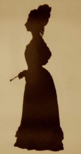 Silhouette of Fanny Brawne - Auguste Edouart
