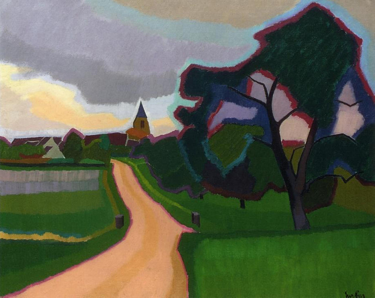 Church at orgeruse 1908 auguste herbin for Auguste herbin