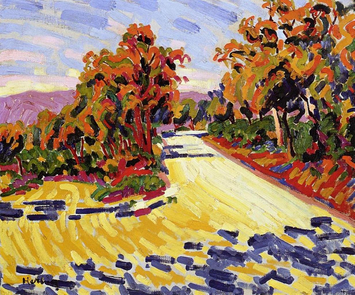 Landscape 1907 auguste herbin for Auguste herbin