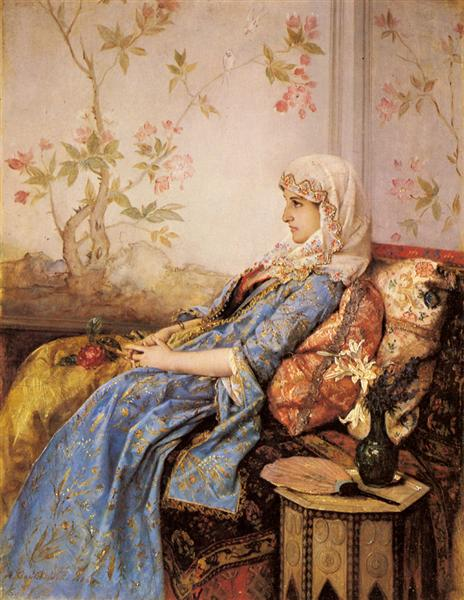 An Exotic Beauty in an Interior, 1883 - Auguste Toulmouche
