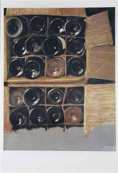 Bouteilles de vin, 1985 - Avigdor Arikha