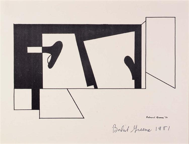 Untitled, from the American Abstract Artists portfolio, 1937 - Balcomb Greene