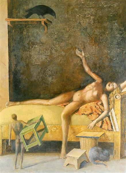 Great composition with corbel, c.1985 - Balthus
