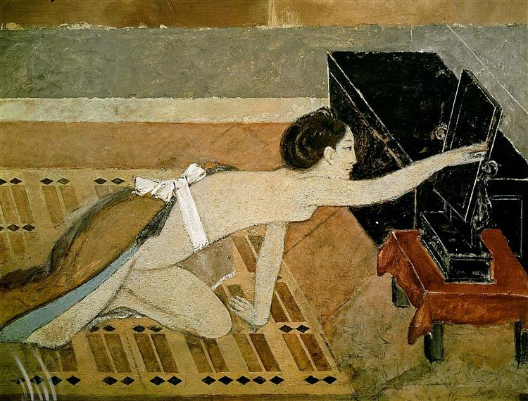 Japanese Girl with a Black Mirror, 1967 - Balthus
