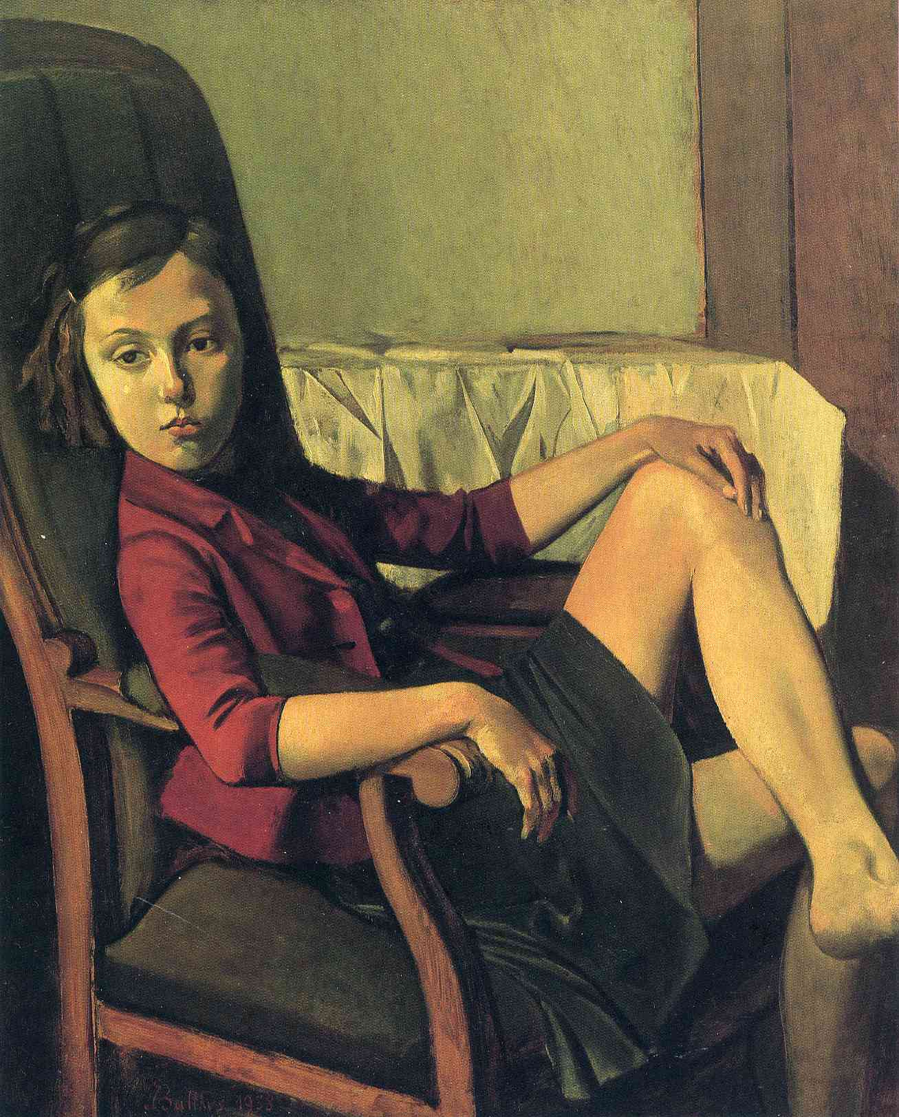 Th r se 1938 balthus for Balthus la chambre
