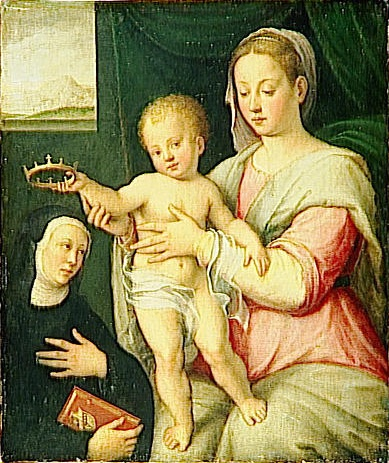 Virgin and Child with Saint, 1595 - Barbara Longhi