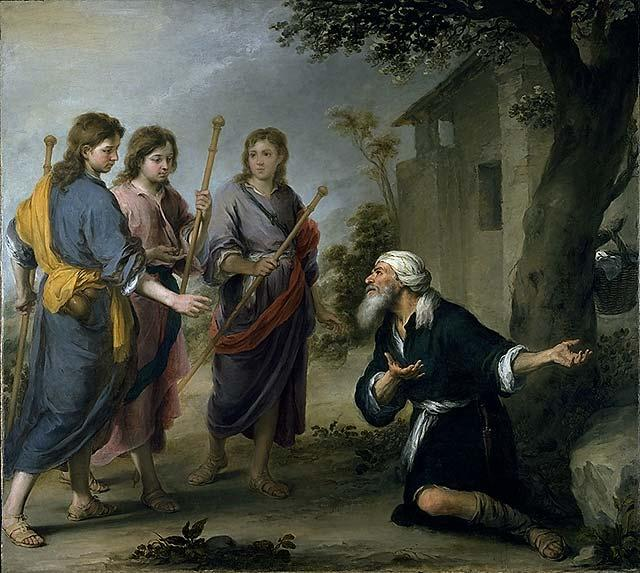 Image result for abraham and the three angels
