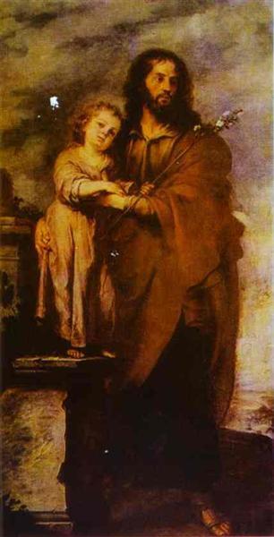 Joseph with Infant Chris, 1665 - 1666 - Bartolome Esteban Murillo