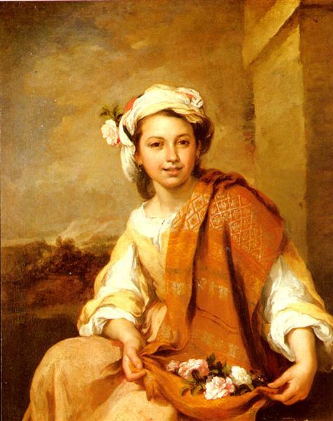 The Flower Girl, c.1665 - 1670 - Bartolome Esteban Murillo